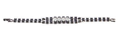 JOOMI LIM Split Personality Jet Black Crystal Bracelet NEW