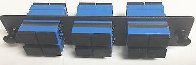 Fiber Optic Adapter Panel with 6 SC Duplex Adapters 12 - 71541