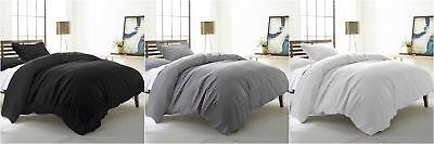 Color Duvet Cover - Chezmoi Collection Hanna 3-Piece 100% Cotton Solid Color Duvet Cover Set