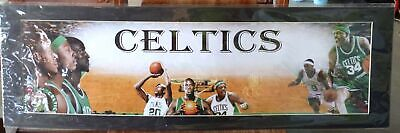Ray Allen Matted Photo - Boston Celtics 34 Paul Pierce 9 Rajon Rondo 20 Ray Allen Custom Print Black Mat