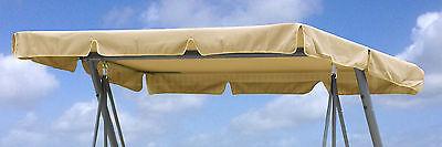 Ersatzdach Universal Hollywoodschaukel  Beige Ersatz-Bezug Sonnendach Dachplane
