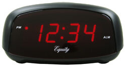 30007 Equity by La Crosse Compact 0.7 Red LED Digital Alarm Clock - Refurbished
