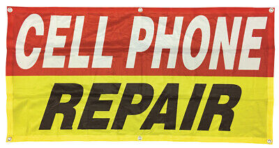 Cell Phone Repair Banner Sign Vinyl Alternative 2x4 Ft - Fabric Rb