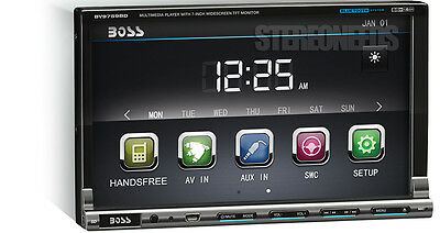 BOSS BV9759BD 7 TOUCHSCREEN IN DASH DVD/CD CAR PLAYER USB/SD/AUX BLUETOOTH 2 DIN
