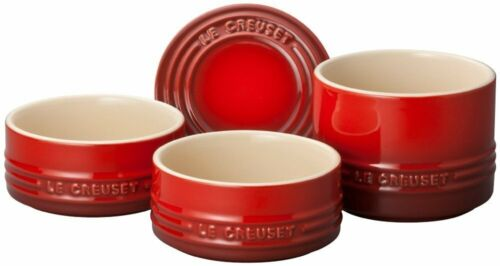 Le Creuset heat resistant container stacking Ramukan set cherry red From Japan
