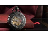 Brand new Steampunk Skeleton Mechanical Open Face Retro Vintage Pendant Pocket Watch
