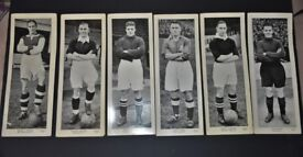 TWELVE RARE TOPICAL TIMES LARGE PANEL FOOTBALLERS CARDS