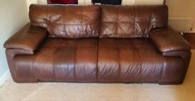 SMART 3 seater genuine leather sofa DELIVERY INCLUDED