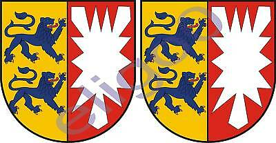 2x reggio emilia ITALY coat of arms bumper stickers new
