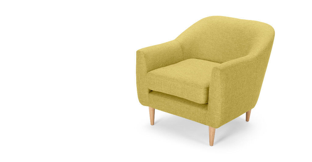 Made Tubby Chair in Citrus Green