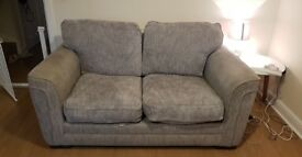 Next 2 seater sofa secondhand grey fabric