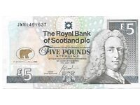 """Royal Bank """"Jack Nicklaus"""" Commerative Five Pound Note from 2005"""