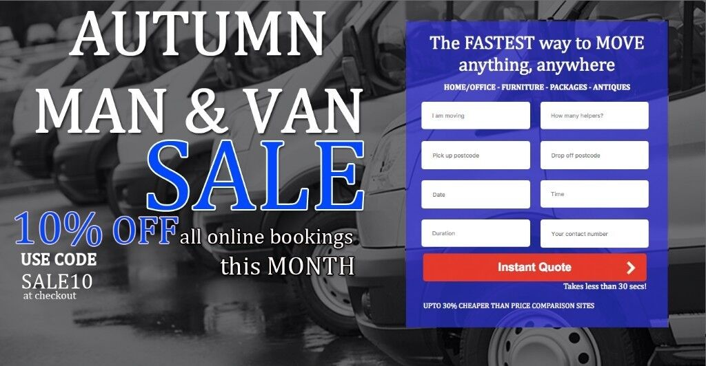 UK & EUROPEAN REMOVALS, CHEAPEST & LARGEST MAN & VAN, INSTANT ONLINE QUOTE IN 30 SECS! 24HR LBS