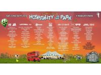 2 x Hospitality in the Park tickets, Finsbury Park, Tomorrow 22nd Sep
