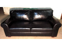 Brand New Heart of House Salisbury 3 Seater Leather Sofa - Black.
