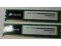 2 x 2GB Corsair Value Select DDR3 1333MHz CL9 240 Pin DIMM Desktop Mem