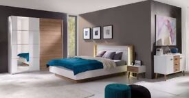 ARDEA- 5 piece bedroom furniture set with a king size bed. Delivery available