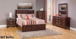 Black Friday Special! Dark Brown Finish, Canadian Made,Queen Bedroom Set