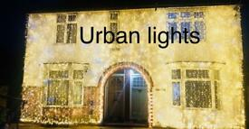Asian wedding lights hire, Indian wedding outside house lights hire, wedding mehndi stage hire