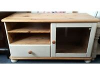 Large TV Entertainment Unit Cream Shabby Chic Pine