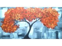 Abstract Tree Of Love canvas painting hand painted art work original direct from artist valentines