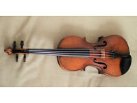 Late 19th century German violin from J P Guivier with bow, excellent condition, recently serviced