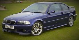 BMW 330Ci Blue Velvet Clubsport. 1 years MOT 79600miles. Rare Manual