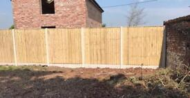 Straight top pressure treated heavy duty fence panels