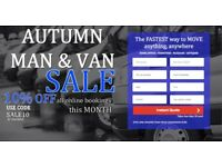 UK & EUROPE CHEAPEST & LARGEST MAN & VAN, REMOVALS, INSTANT ONLINE QUOTE IN 30 SECS! 24HR KO
