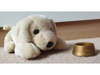 Andrex Soft Toy Labrador Puppy 30 years and Bowl for sale  Rotherham, South Yorkshire