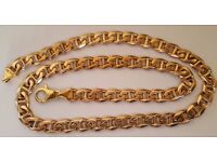"74 gr!!! GOLD HEAVY RARE CHAIN 9ct, LENGTH 22"" PERFECT CONDITION"