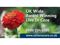 UK Wide | Live In Care Workers | Min £500 Week