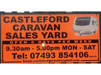 CASTLEFORD CARAVANS OPEN MONDAY TO SATURDAY CAN DELIVER WORLDWIDE