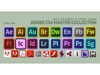 Adobe Master Suite CS6 PC - (Photoshop, In-Design, Web Design) Full Software