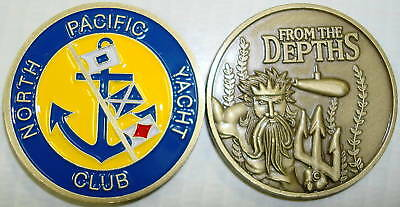 North Pacific Yacht Club USS Submarine Challenge Coin