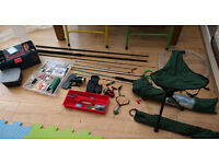2x Fishing Rod and Reels Plus Various Tackle