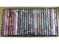25 DVDs Titles. All new and sealed. Multiple genres. Region 2 (SKU Box 1)