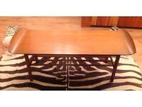 Retro vintage wood coffee table