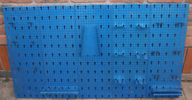 Garage / Workshop Steel Tool Wall Pegboard Storage Rack