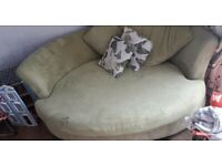 free large green cuddle chair