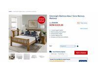 Silentnight double memory foam mattress 7 zone anti roll breathable - pet and smoke free home