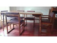 Retro dining set with 6 chairs