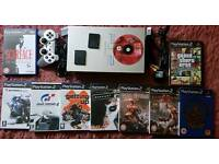 Ps2 console with 10 games and accessories