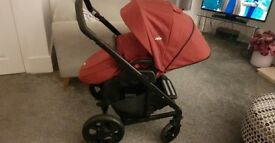 Joie chrome cranberry pushchair like new!