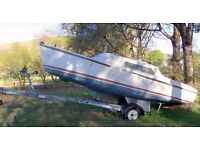 Two Berth Sail Boat & Trailer In Need Of T.L.C. (Bargain For Someone)