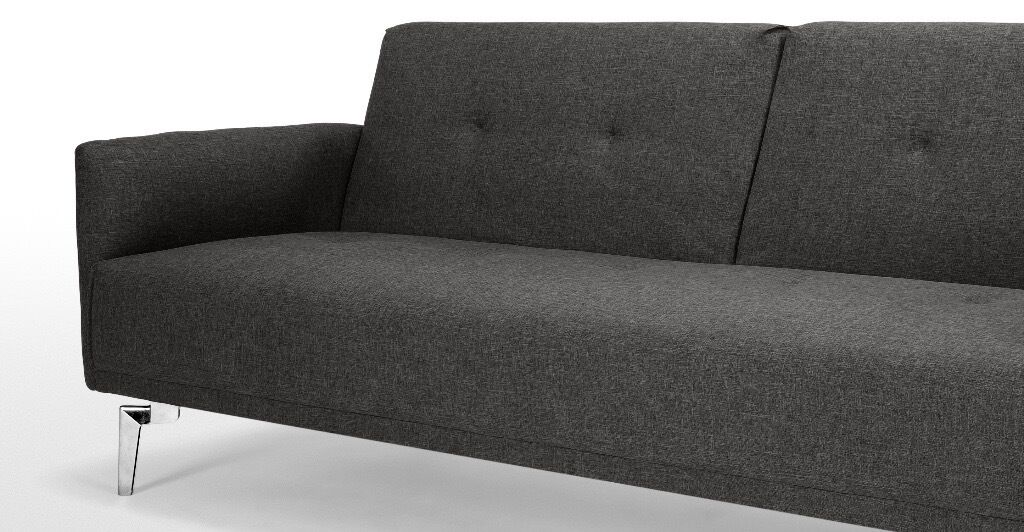 Sofa Bed bought from MADEin Liverpool Street, LondonGumtree - Sofa Bed purchased a year ago. A contemporary and minimalist sofa thats also ideal for smaller set ups as an occasional guest bed. In a versatile shade of grey. Simply fold out to turn into a comfy bed for one or a cosy bed for two. Fixed cushions...