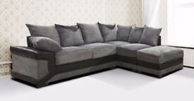 🔥❤🔥SAME DAY CASH ON DELIVERY🔥Brand New Dino Jumbo Cord 5 Seater Big Corner Sofa Or 3 & 2 Sofa Set