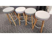 CENTRO Upholstered Cafe / Bistro / Bar Stool set of 4