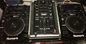 Numark NDX 500 Pair and Akai Pro AMX mixer (offers considered)