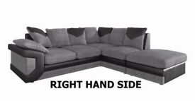 SPECIAL LARGE DINO CORNER ITALIAN JUMBO CORD SOFA SAME DAY DELIVERY ALL OVER LONDON